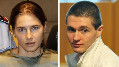 US student Amanda Knox (L) and her former boyfriend Raffaele Sollecito during their trial in Perugia. Italy's highest court of appeals