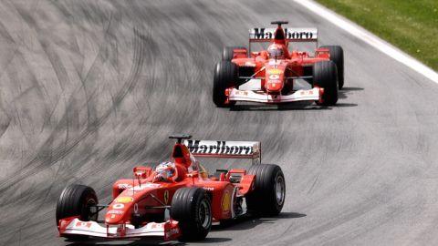 Barrichello led the 2002 Austrian Grand Prix before ceding position to his Ferrari teammate Michael Schumacher. Team orders were banned the following season.