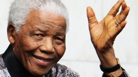 Former South African leader Nelson Mandela  has been hospitalized since June.