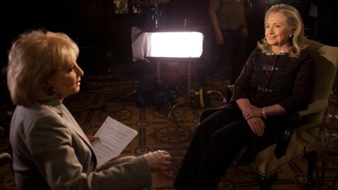 """Walters' annual specials on the year's """"most fascinating people"""" focused on big names in entertainment, sports, politics and popular culture. In December 2012, she interviewed then-Secretary of State Hillary Clinton."""