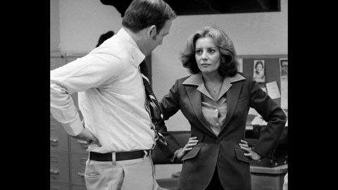 """Walters was called """"a former hostess of a morning TV show, an interviewer of the famous and all-around glamour girl personality in her own right"""" when """"ABC Evening News with Harry Reasoner and Barbara Walters"""" debuted in 1976, making her television's first network anchorwoman."""