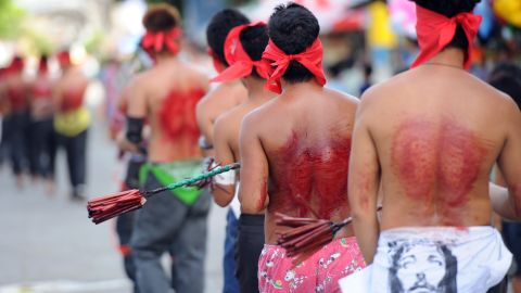 Bishops in the Philippines - which is home to 75 million Catholics - have discouraged people from engaging in extreme acts of faith, like self-flagellation.