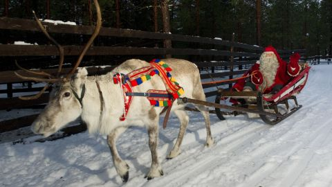 """Christmas is a Christian holiday celebrating the birth of Jesus Christ, but it was the worship of St. Nicholas that made reindeer significant to the holiday. St. Nicholas was <a href=""""https://www.cnn.com/2013/03/29/living/gallery/festive-animals/www.history.com/topics/santa-claus"""" target=""""_blank"""">born in modern-day Turkey</a>, far away from the nordic stomping grounds of reindeer. But Dutch and German traditions of """"Sinterklaas"""" shaped the idea of Santa Claus, a jolly old man who lives at the North Pole -- with reindeer. Then, in 1939, the story of """"Rudolph, the Red-Nosed Reindeer"""" was written by a Montgomery Ward department store copy editor. It hooked Americans on these adorable, wintery beasts."""