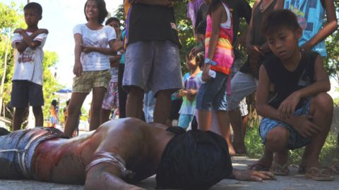 """Up to 5,000 men have chosen to participate in the Good Friday celebration as penitents. Jimmy Lazatin, city councilor who co-organizes the event, says the men have different reasons for their actions. For some, it's their faith. For others, it's """"macho"""" entertainment. <br />"""