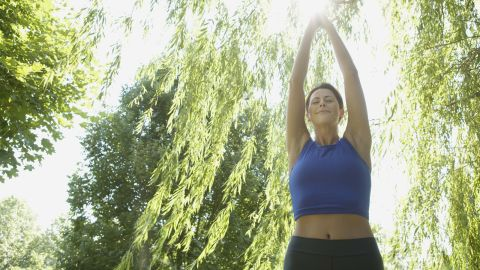 """Go outside! """"Fresh air is full of feel-good negative ions, which may boost oxygen flow to the brain,"""" an expert says."""