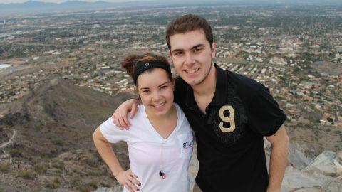 Trevor and his sister on top of  Piestewa Peak in Phoenix.