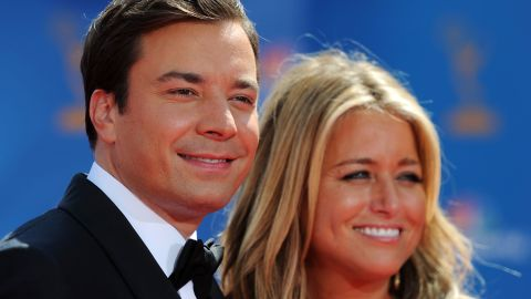 """Jimmy Fallon, who hosts the talk show """"Late Night with Jimmy Fallon,"""" will be taking over NBC's """"The Tonight Show""""  in spring 2014. Fallon -- here with his wife, producer Nancy Juvonen, in 2010 -- started his entertainment career as a cast member on """"Saturday Night Live"""" from 1998-2004 and has been in the spotlight hosting award shows and appearing in movies."""