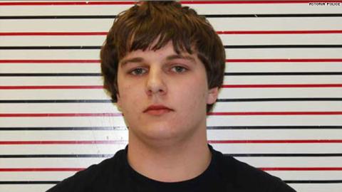 Jacob Cox-Brown's mug shot from the Astoria, Oregon, police.