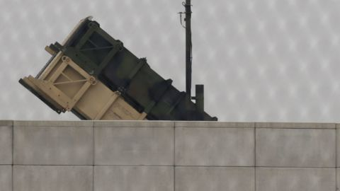 A U.S. Army Patriot missile battery is visible at the U.S. Osan Air Base in South Korea on Friday, April 5.