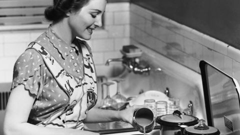 Women spend more time than men engaged in household activities, Anne York points out.