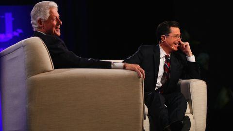 Stephen Colbert convinced former president Bill Clinton to start a Twitter account.