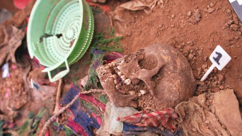 Following the 2002 exhumation, ceremonies were held to properly bury the dead.