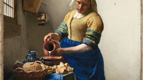 """The Rijksmuseum is also home to several works by Johannes Vermeer -- """"The Milkmaid"""" (1658-1660) is among those taking pride of place in the church-like Gallery of Honor."""