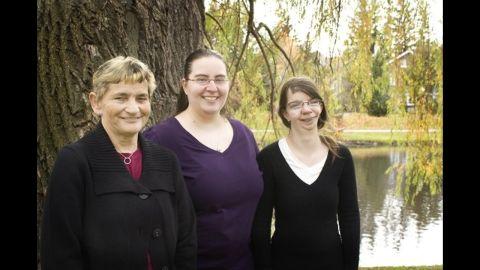 Loker, her mother and her sister, Crystal Loker.
