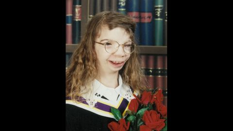 Loker's high school graduation photo, taken not long before the incident after her manicure and pedicure.