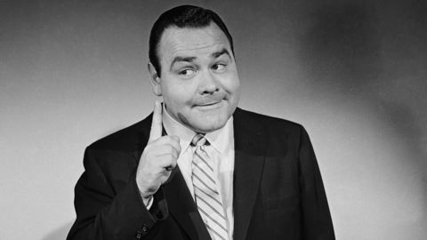 """Jonathan Winters in a publicity 1956 shot for """"The Jonathan Winters Show,"""" which aired on NBC."""