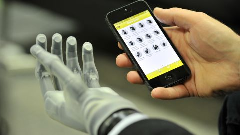 The i-limb ultra revolution hand, controllable by smartphone app. In time, will we  choose to have bionic enhancements?