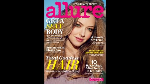 """Amanda Seyfried doesn't hold back in the May issue of Allure magazine. Although she doesn't go nude, <a href=""""http://www.allure.com/celebrity-trends/2013/naked-celebrities-photos-allure-may-2013#slide=4"""" target=""""_blank"""" target=""""_blank"""">like some other stars in the issue</a>, she does speak frankly about her body. """"I saw a picture a couple of days ago from when I was 19, and my boobs were way bigger,"""" she said. """"There was something so beautiful about the size of them. When I look back, I'm like, 'Why did I always give myself such a hard time?' Nobody gave me s*** about it except me."""""""