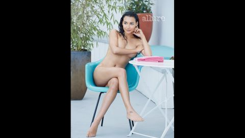 """Naya Rivera bares all in the May issue of Allure, r<a href=""""http://marquee.blogs.cnn.com/2013/04/16/glee-star-strips-down-for-magazine-spread/?iref=allsearch"""" target=""""_blank"""">evealing that she's far more confident about her body now</a> than she was when she was working at her pre-fame job at Hooters."""