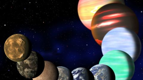 This artist's illustration represents the variety of planets being detected by NASA's Kepler spacecraft.