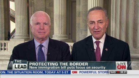 Lead John McCain Chuck Schumer immigration guns_00034406.jpg