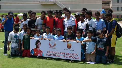 The 36-year-old Bhutia, who co-owns the I-League club United Sikkim, has several football schools.