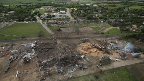 The West Fertilizer Co. lies in ruins.
