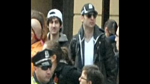 """The FBI later identified the suspects as <a href=""""http://www.cnn.com/2013/04/19/us/gallery/boston-suspect-2/index.html"""">Dzhokhar Tsarnaev</a>, left, and his brother <a href=""""http://www.cnn.com/2013/04/19/us/gallery/boxer-suspect-1/index.html"""">Tamerlan Tsarnaev</a>."""
