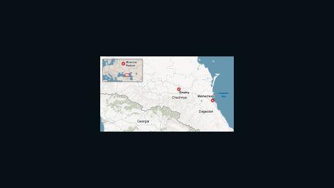 Chechnya/Dagestan Map