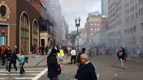 """A man identified as Suspect 2 appeared in this photograph by bystander David Green, who took the photo after completing the Boston Marathon. Green submitted the photo to the FBI, <a href=""""http://piersmorgan.blogs.cnn.com/2013/04/19/david-green-on-his-likely-photo-of-suspect-2-i-took-one-picture-and-that-was-the-picture/"""">he told Piers Morgan in an interview.</a>"""