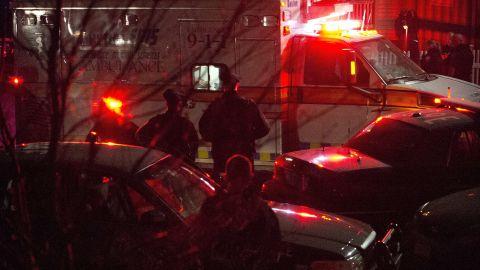 An ambulance carries Boston Marathon bombing suspect Dzhokhar Tsarnaev, 19, from the scene after he was apprehended in Watertown, Massachusetts, on April 19.