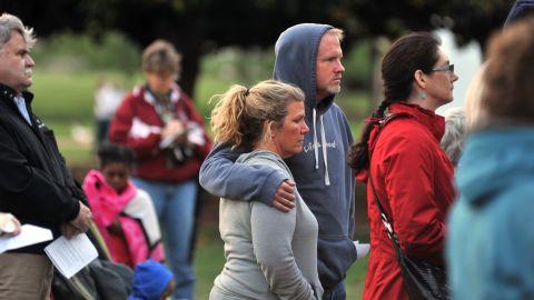 Huntsville, Alabama, residents hold a prayer vigil on April 19, 2013.
