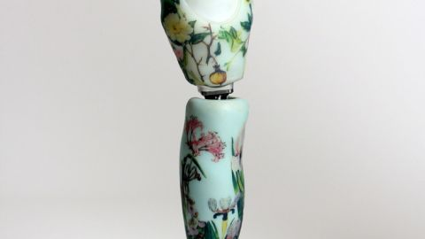 """Roche is now delighted to wear the floral-design leg: """"I've had an incredible response to the leg from other amputees and able-bodied people. I just wish I had more opportunities to wear it. I need to go to more parties!"""""""