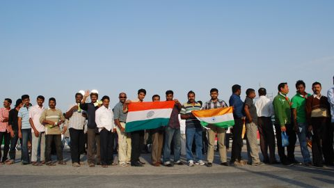 Thousands of Indian workers were given the day off by their employers and given free tickets to watch India play at the tournament, even though most were ardent cricket fans. Many spoke of their relief at working in Doha, rather than any of the other Gulf cities near by.