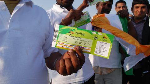 The issue of how migrant workers are treated has long been a hot topic in the Gulf. The UAE, Saudi Arabia, Kuwait and Bahrain have all been criticized in the past for their poor treatment of guest workers. But the 2022 World Cup has focused attention on Qatar. Here one Indian worker proudly shows his ticket for a match at the 2011 Asian Cup finals, hosted in Doha.