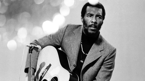 Folk singer Richie Havens, the opening act at the 1969 Woodstock music festival, died on Monday, April 22, of a heart attack at age 72, his publicist said. He is pictured performing on a TV special in Copenhagen, Denmark, in June 1969.