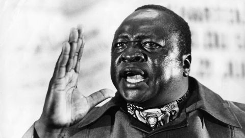 """Idi Amin, the """"<a href=""""http://www.cnn.com/2003/WORLD/africa/07/21/amin.profile/"""">Butcher of Uganda</a>,"""" brutally ruled the African nation from 1971-1979 before going into exile in Saudi Arabia. He never returned to Uganda and died in 2003 in Jeddah, where he was later buried. A tourism promotions group in Uganda earlier this year requested his remains be returned so they could be included as part of a tourist attraction."""