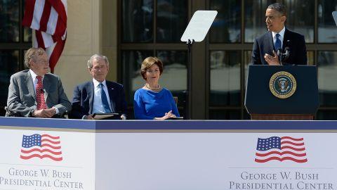 President Barack Obama speaks during the opening ceremony.