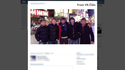 This image from VK.com shows Dzhokhar Tsarnaev in New York's Times Square.