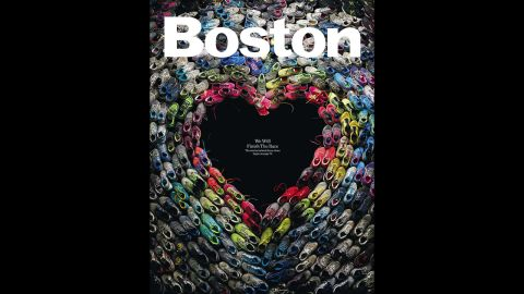 Boston showed its resilience and heart with signs of support for the bombing victims, including this cover from an issue of Boston magazine.