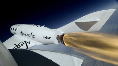 Virgin Galactic's SpaceShipTwo undergoes its first rocket powered test flight