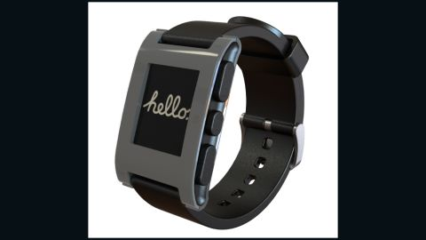 """The <a href=""""http://getpebble.com/"""" target=""""_blank"""" target=""""_blank"""">Pebble Watch</a>, what many consider the first commercial smartwatch, first gained attention by pulling in more than $10 million on Kickstarter.  Pebble connects to an iPhone or Android phone via Bluetooth and has a growing slate of apps of its own. Lots of other folks are jumping into the smartwatch fray (Apple and Samsung are believed to be on the way) so there are other options, too. <strong>Price: $150 to pre-order (watches shipping this summer)</strong>"""