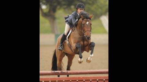 """Ozzie, formerly Warning Zone, was retired from racing after an injury ended his career and brought to<a href=""""http://www.neighsavers.com/"""" target=""""_blank"""" target=""""_blank""""> Neigh Savers</a> for rehab. He was adopted by the resident trainer and is now competing in hunter classes. Karin Wagner, the executive director, said that Ozzie's success story was made possible by funding from<a href=""""http://www.tca.org/"""" target=""""_blank"""" target=""""_blank""""> TCA</a>."""