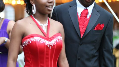 Mareshia Rucker and Arkel Bennett attended Wilcox County High School students' first integrated prom.
