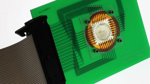 Prototype of a digital camera inspired by the compound eyes of insects.