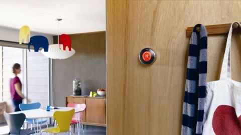 """Saving pennies on your heating and air-conditioning bills has never been so high-tech. The <a href=""""http://nest.com/"""" target=""""_blank"""" target=""""_blank"""">Nest thermostat </a>learns your usage patterns and automates setting the temperature of your home to save money and energy. Compatible with almost all heating and cooling systems, Nest means never again being asked if you were born in a barn. <strong>Price: $249</strong>"""