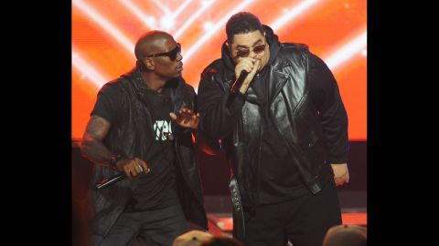 """Heavy D, right, fronted Heavy D & the Boyz and was much beloved <a href=""""http://www.cnn.com/2011/11/08/showbiz/ent-heavy-d-dead/index.html"""" target=""""_blank"""">before his death in 2011.</a> Here he performs with singer Tyrese at the 2011 BET Hip Hop Awards in Atlanta."""