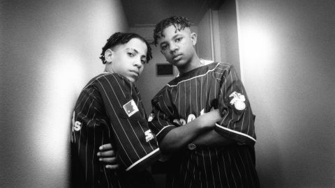 Chris Smith, left, and Chris Kelly of the rap duo Kris Kross circa 1992. Kelly died at an Atlanta hospital May 1, from a drug overdose that included heroin and cocaine, his autopsy report said. He was 34.
