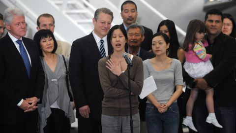 """North Korea has arrested Americans before, only to release them after a visit by a prominent dignitary. Journalists Laura Ling, center, and Euna Lee, to her left, spent 140 days in captivity after being charged with illegal entry to conduct a smear campaign. They were <a href=""""http://ww"""