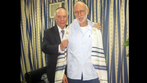 """Alan Gross, at right with Rabbi Arthur Schneier, was jailed while working as a subcontractor in Cuba in December 2009. Cuban authorities say Gross tried to set up illegal Internet connections on the island. Gross says he was just trying to help connect the Jewish community to the Internet. Former President Jimmy Carter and New Mexico Gov. Bill Richardson both traveled to Cuba on Gross' behalf. He was eventually <a href=""""http://www.cnn.com/2014/12/17/politics/cuba-alan-gross-deal/index.html"""" target=""""_blank"""">released in December</a>."""